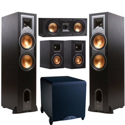 R-28F Dual 8-inch Floorstanding Speaker (Pair) + Speakers and Subwoofer