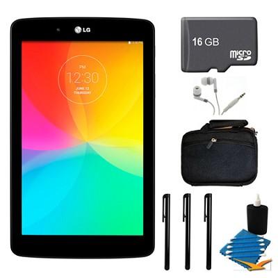 G Pad V 400 8GB 7.0` WiFi Black Tablet, 16GB Card, and Case Bundle