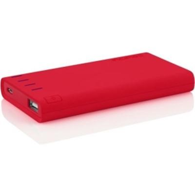 offGRID Power Bank, USB Charger 4000 mAh Portable Battery Pack - Red IP-679-RED