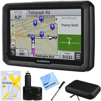 dezl 770LMTHD 7` GPS Navigation System with Lifetime Map/Traffic Updates Bundle