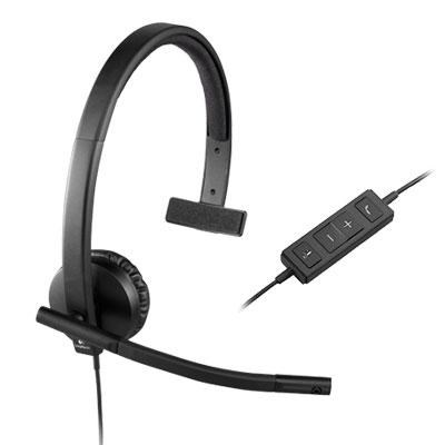 H570e USB Corded Single-Ear Headset - 981-000570