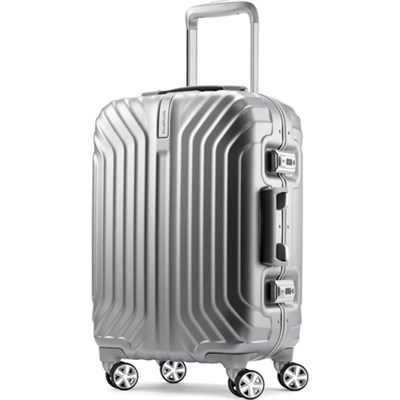 Tru-Frame Hard Shell Carry-On Matte Silver 20` Spinner Suitcase