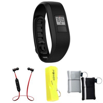 Vivofit 3 Activity Tracker Fitness Band Regular Fit Black w/ Power Bank Bundle