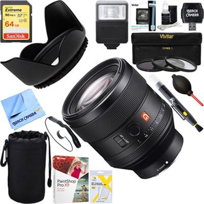 FE 85mm F1.4 GM Full Frame E-Mount Lens + 64GB Ultimate Kit (SEL85F14GM)