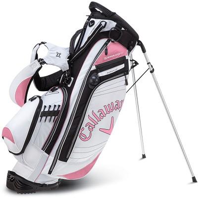 Callaway Golf Hyper-Lite 4.5 Stand Bag - White/Pink