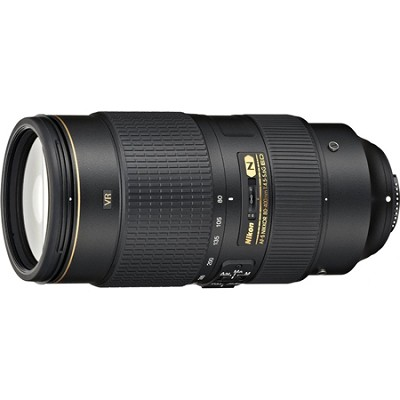 AF-S NIKKOR 80-400mm f.4.5-5.6G ED VR Lens - Factory Refurbished