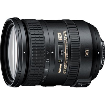 AF-S DX NIKKOR 18-200mm f/3.5-5.6G ED VR II Lens - Factory Refurbished