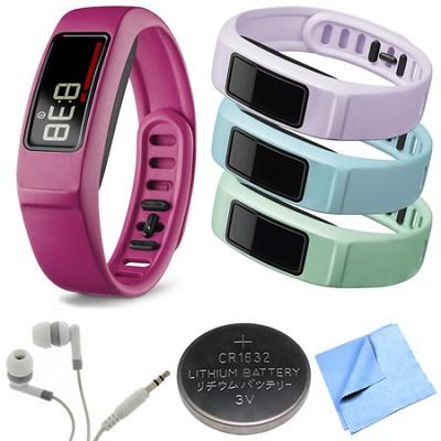 Vivofit 2 Bluetooth Fitness Band (Pink)(010-01503-03) Mint/Cloud/Lilac Bundle