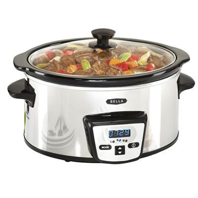 5 Quart Programmable Slow Cooker, Polished Stainless Steel 13973W