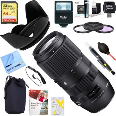 100-400mm F5-6.3 DG OS HSM Telephoto Lens Canon + 64GB Ultimate Kit