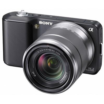 Alpha NEX-3 Interchangeable Lens Black Digital Camera w/18-55mm Lens-REFURBISHED
