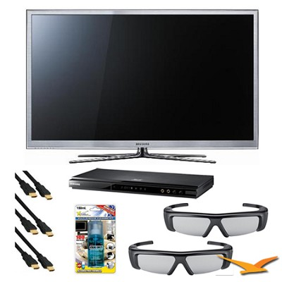 PN64D8000 64 inch  Slim Wifi 3D Plasma 25m:1 Contrast Ratio 3D Bundle