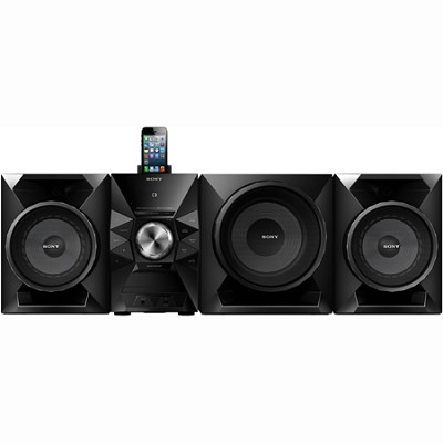 700-Watt Music System with 8` Sub, USB, iPhone/iPod Compatibility - MHC-EC919iP