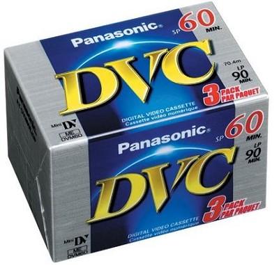 DVM-60EJ/3P miniDV Videocassette - 60 Minutes, 3 Pack