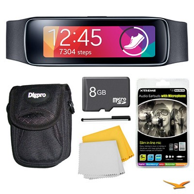 Gear Fit Black Watch, Case, and 8GB Card Bundle