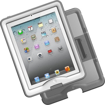 iPad 2/3 Nuud Case & Cover/Stand Bundle - White