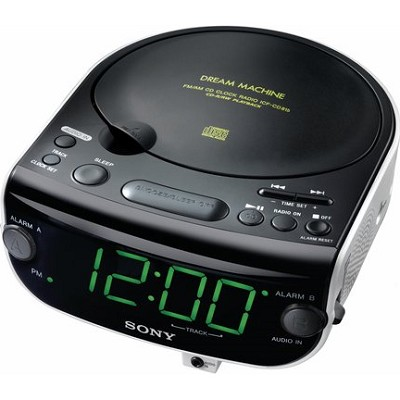 ICF-CD815 AM/FM Stereo CD Clock Radio with Dual Alarm
