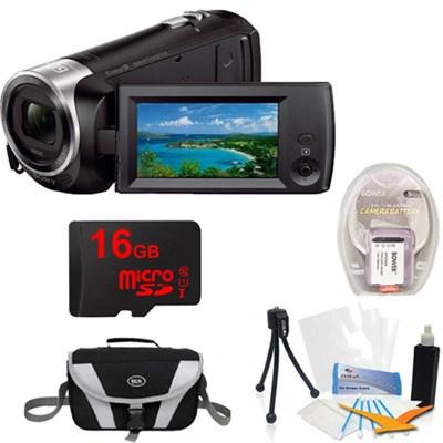 HDR-CX405/B Entry Level Full HD 60p Camcorder + 1600MAH, 16GB, Tripod, Bag Kit