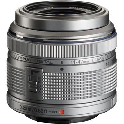 M.14-42MM F3.5-5.6 2R Zuiko Interchangeable Zoom Lens - Silver Refurbished