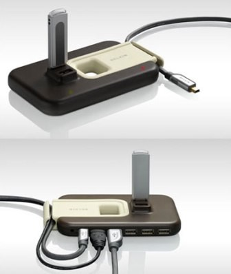 USB 2.0 Plus Hub (7 Port) - Brown