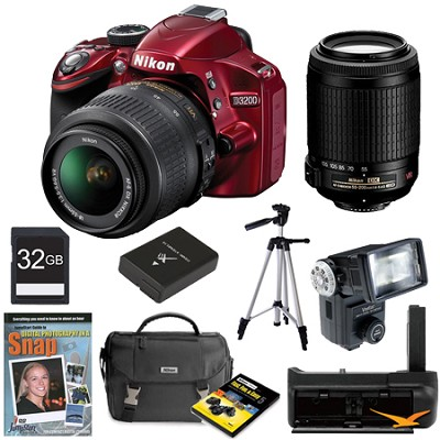 D3200 DX Red Digital SLR Camera Baby and Family Photographer Bundle