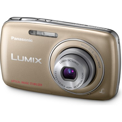 Lumix DMC-S1 12MP Compact Gold Digital Camera w/ 720p HD Video