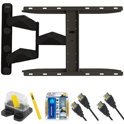 Pro Series Large Extension TV Mount & Set Up Kit for 37`-70` TVs up to 85LB