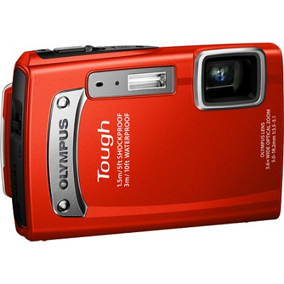 Tough TG-320 14 MP Waterproof Shockproof Freezeproof Digital Camera - Red