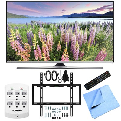 UN40J5500 - 40-Inch Full HD 1080p Smart LED HDTV Slim Flat Wall Mount Bundle