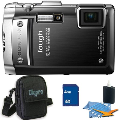 Tough TG-810 4GB Bundle - Waterproof Shockproof Freezeproof Black Camera