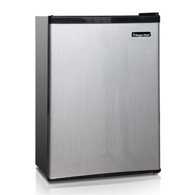 2.4 Cu. Ft. Compact Fridge with Freezer in Stainless Steel - MCBR240S1