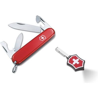 Red Recruit Pocket Knife / Microlite LED Combo Set