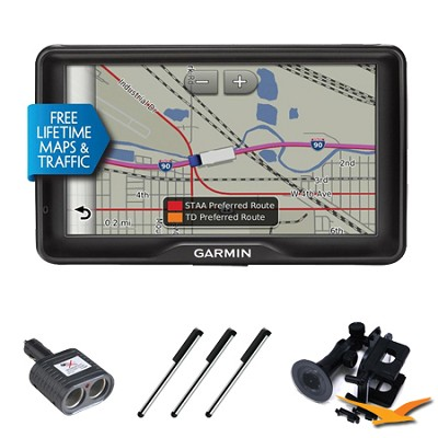 dezl 760LMT GPS with Free Lifetime Maps and Traffic Essentials Bundle