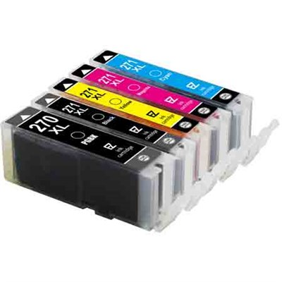 5PK PGI-270 XL CLI-271 XL Ink Carts for Canon PIXMA Printers - CMYK&Photo Black