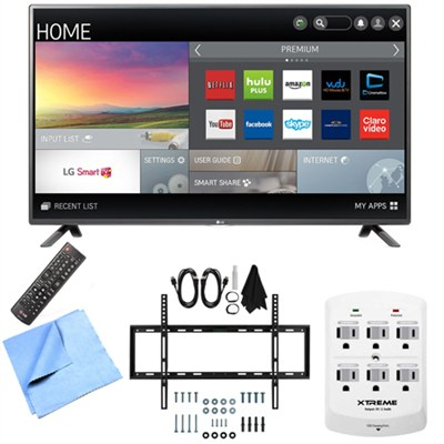 42LF5800 - 42-Inch Full HD 1080p 60Hz Smart LED HDTV Mount & Hook-Up Bundle
