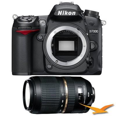 D7000 16.2 MP DX-format Digital SLR Camera Body & AF70-300m Tamron Lens