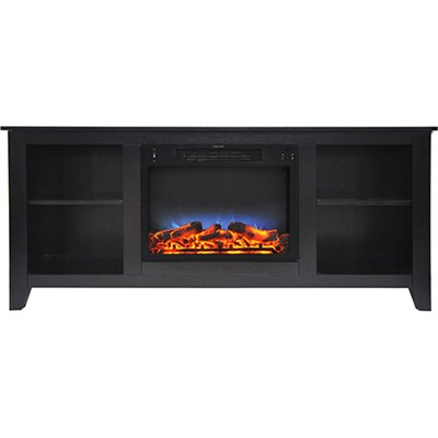 62.8 x15.2 x26.5  Santa Monica Fireplace Mantel with LED Insert