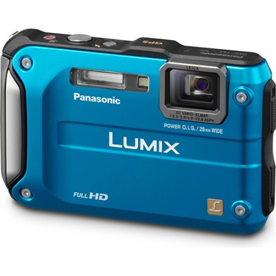 Lumix DMC-TS3 Blue Shockproof Freezeproof Dustproof Camera - OPEN BOX