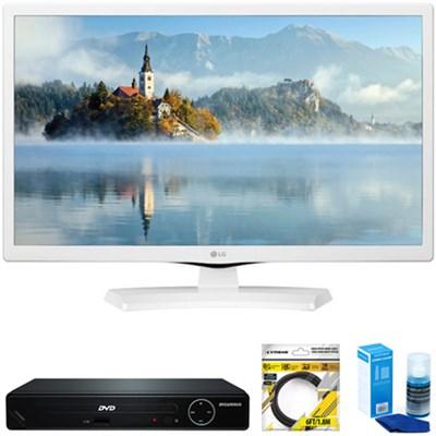 24` HD LED TV White 2017 Model + DVD Player Bundles