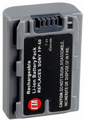 NP-FP50 800mAh P-Series Replacement Battery for Sony DCR-HC series Camcorders