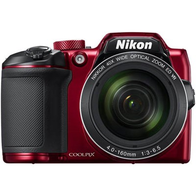 COOLPIX B500 16MP 40x Optical Zoom Digital Camera w/ Built-in Wi-Fi - Red