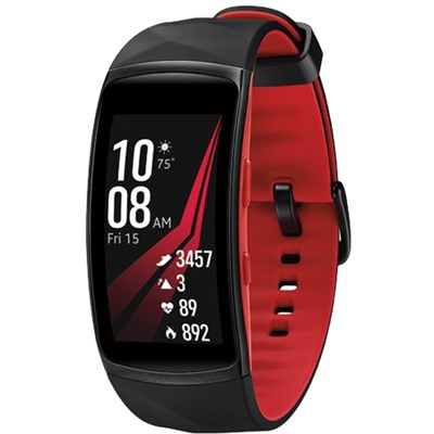 Gear Fit2 Pro Fitness Smartwatch - Red, Large (OPEN BOX)