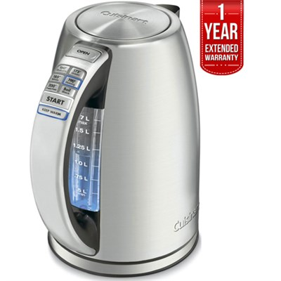 PerfectTemp Cordless Electric Kettle Brushed S.Steel + 1 Year Warranty