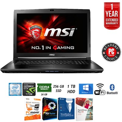 GS72 STEALTH PRO 4K Intel Core i7 17.3` Gaming Laptop+Extended Warranty Pack