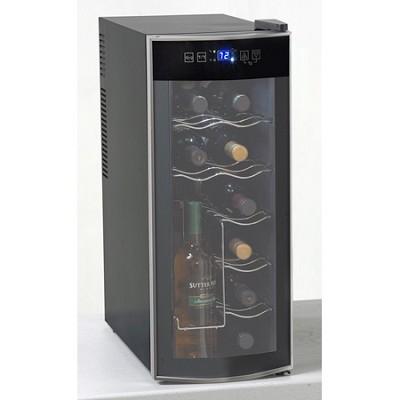 12 Bottle Counter-top Wine Cooler Black-Platinum