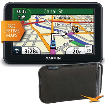 nuvi 50LM 5 inch Touchscreen GPS Navigation - Refurbished with Bonus Garmin Case