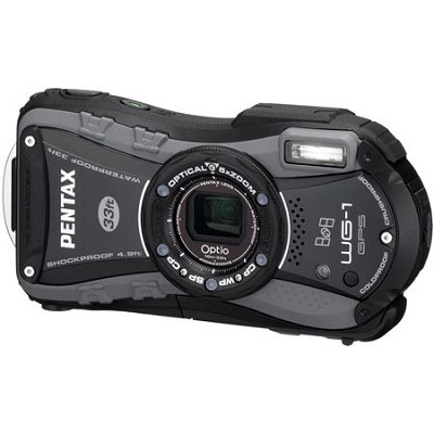 Optio WG-1 Waterproof GPS Digital Camera - Black/Gray