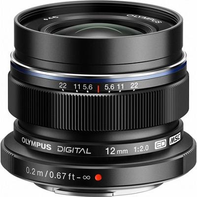 M.Zuiko 12mm f2.0 Black Metal Lens