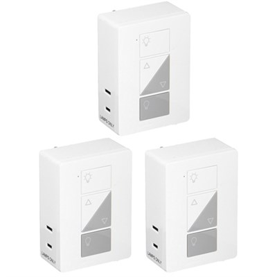 Caseta Wireless Plug-In Smart Lamp Dimmer White PD-3PCL-WH 3 Pack