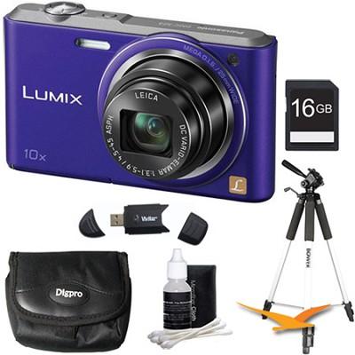 DMC-SZ3 16.1 MP Compact Digital Camera with 20x Intelligent Zoom - Violet